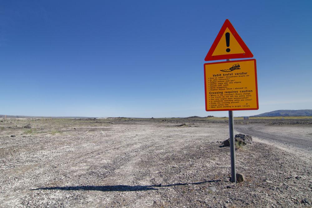 Carretera no asfaltada o Carretera F hacia Landmannalaugar