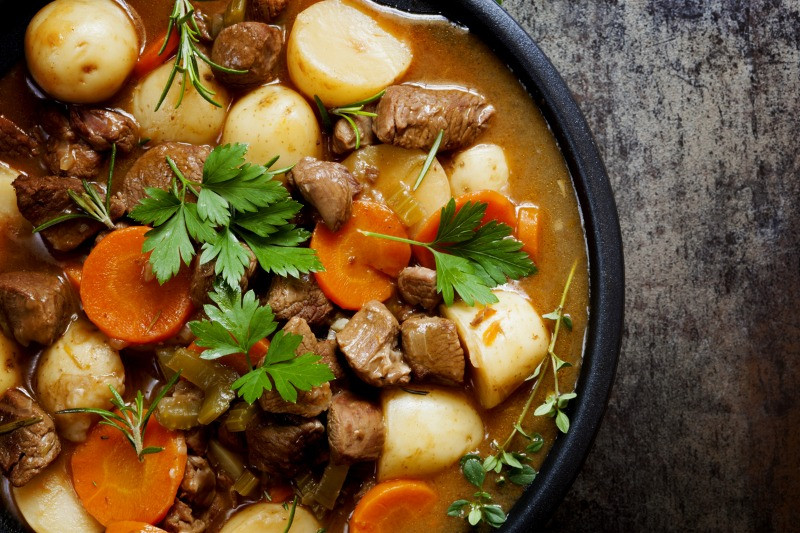 Lamb stew is a traditional Iceland food