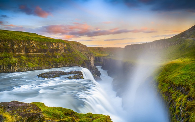 Gullfoss is one of the most famous waterfalls in Iceland