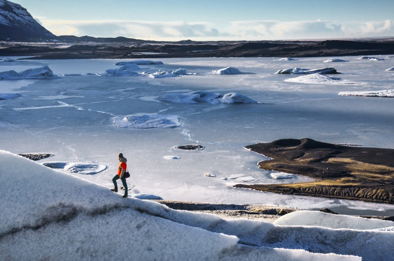 vatnajokull glacier, a great area for snowmobiling in Iceland
