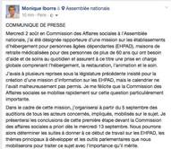 La députée Monique Iborra (LREM, Haute-Garonne) a été désignée le 2 août par la commission des affai