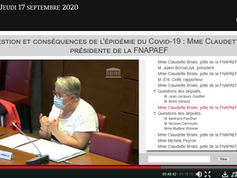 Audition de la Présidente de la FNAPAEF à l' Assemblée Nationale ce 17 septembre.