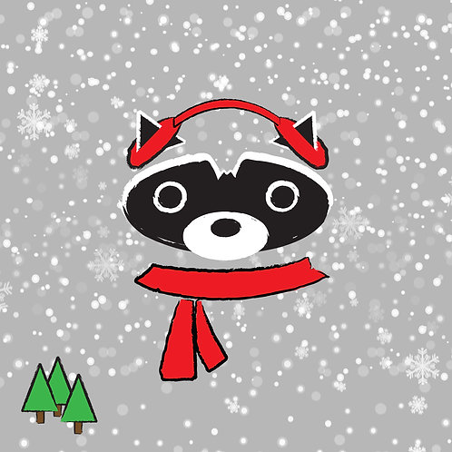 #331 - Christmas Raccoon