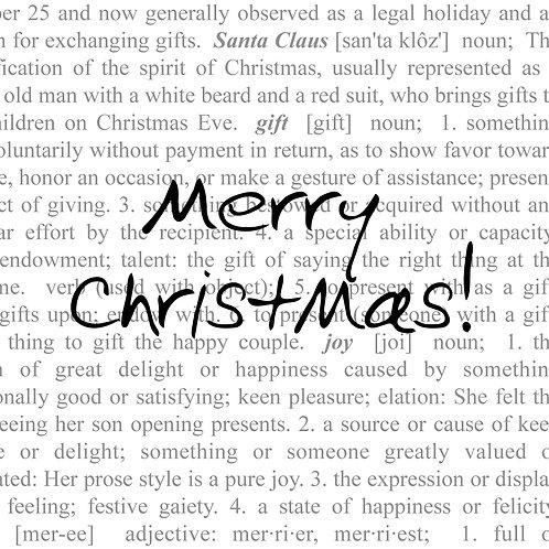 #614 - Merry Christmas Dictionary