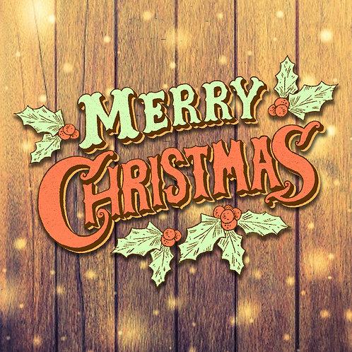 #619 - Merry Christmas Vintage