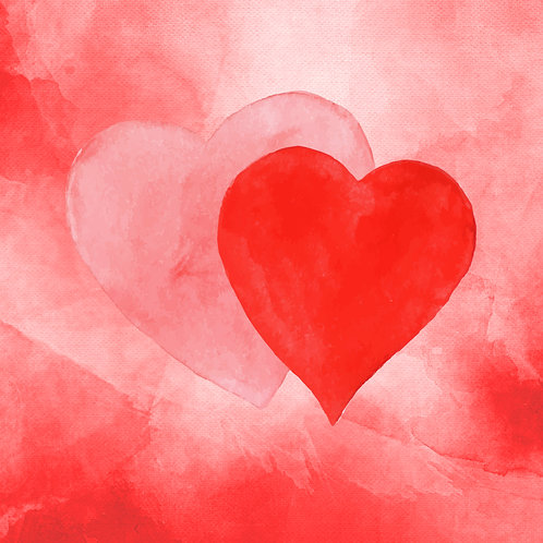 #217 - Watercolour Hearts