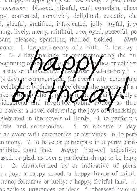 #530 - Happy Birthday Dictionary
