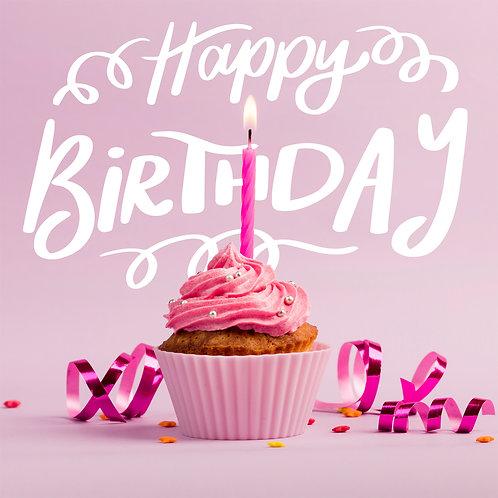 #207 - Happy Birthday Cupcake