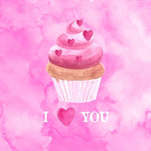 #218 - I ❤️ You Cupcake