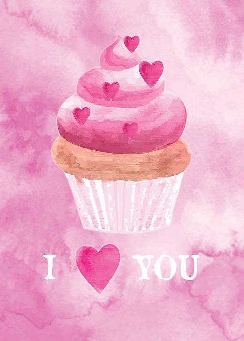 #554 - I ❤️ You Cupcake