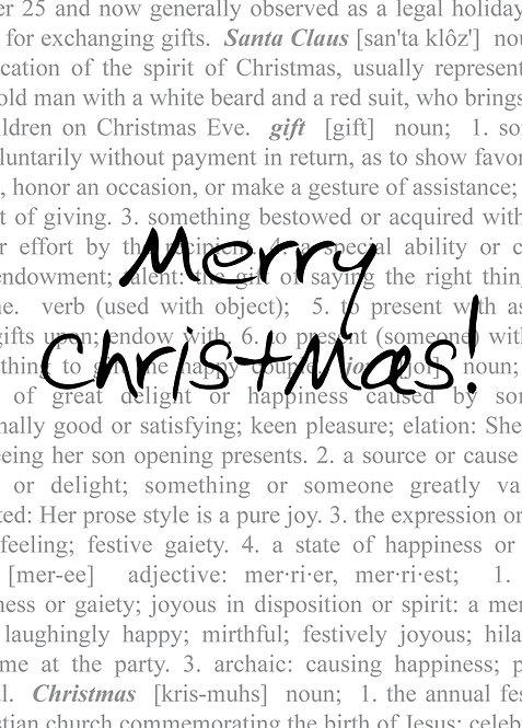 #403 - Merry Christmas Dictionary