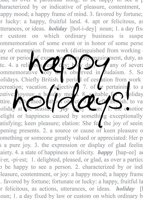 #402 - Happy Holidays Dictionary