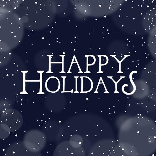 #612 - Happy Holidays Snowy Night