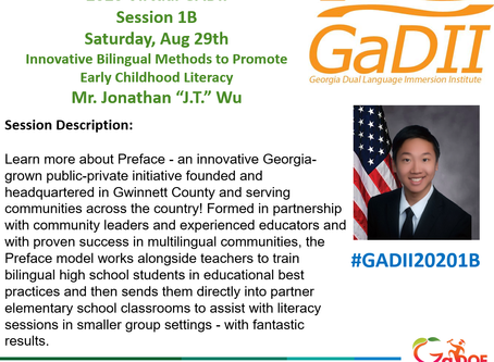 Preface Honored by GA Dept. of Education, Presents at 7th Annual Dual Language Immersion Institute