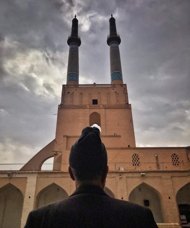 Narges Sinaei in Yazd City, Iran