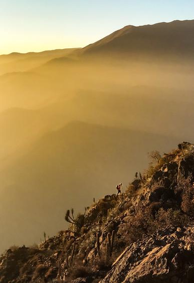 Matt Maynard in Cerro Pochoco, Chile