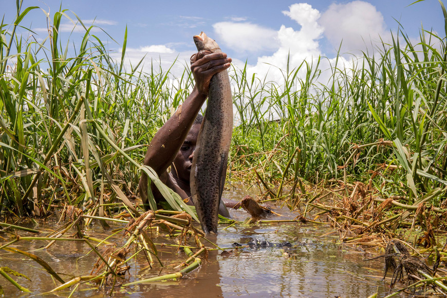 Katumba Badru Sultan at Victoria Lake, Uganda