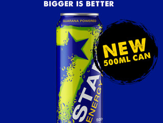 BECAUSE... BIGGER IS BETTER... #BeASTAR #XtremeEnergy