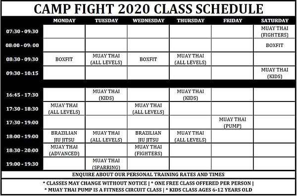 Camp fight traning times.jpeg