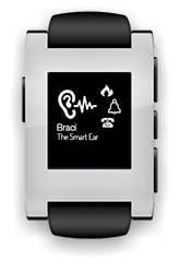 Let Braci turn your smart device into a smart ear. By converting any type of sound from your environment, Braci can notify you by the power of visuals and vibrations. With the aid of the Pebble smartwatch, you can receive the notifications straight to your