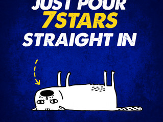 """JUST POUR 7 STARS STRAIGHT IN...   """"THANKS""""  #7StarsEnergy"""
