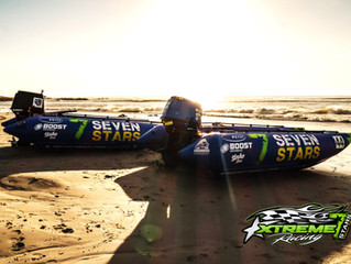 Chilling on the beach with the 7 Stars Racing team #BeASTAR