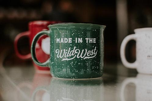 Green campfire mug