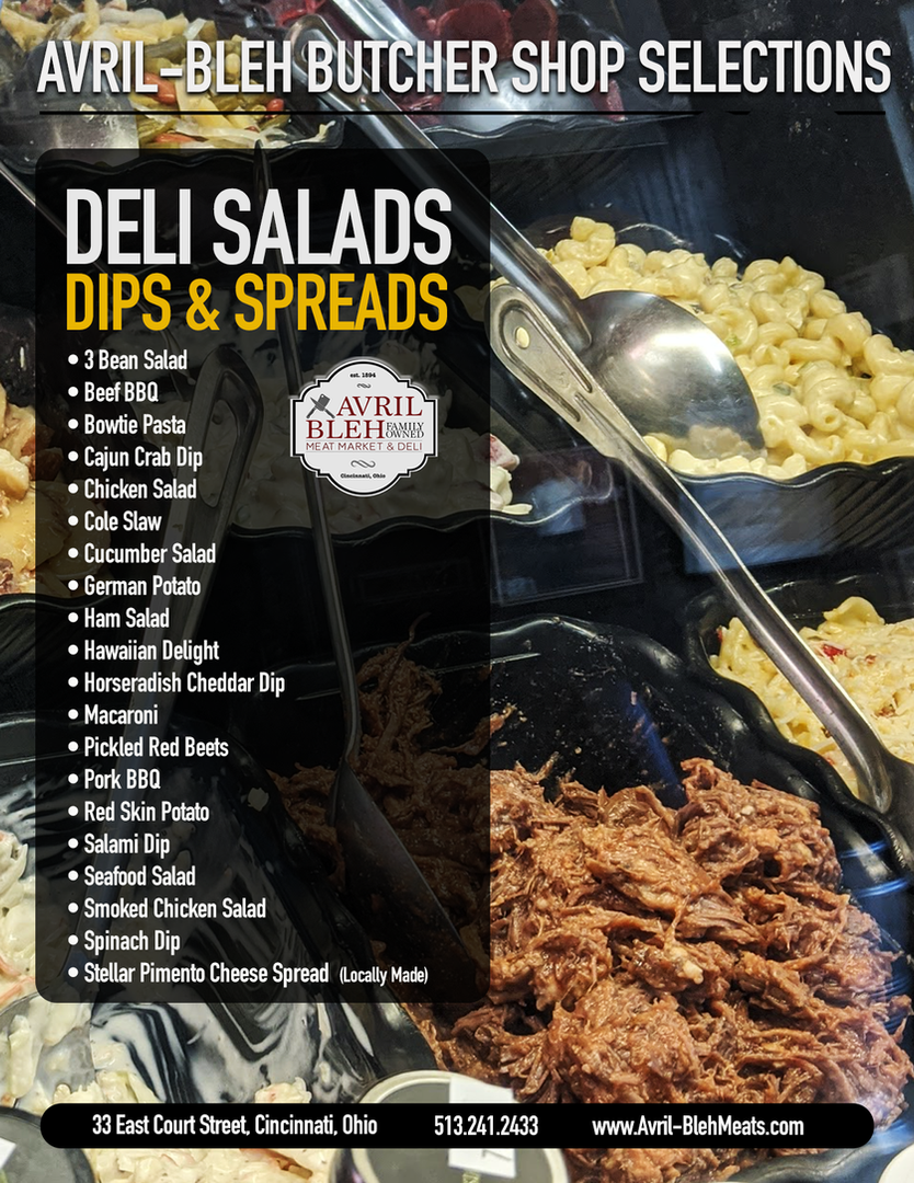 SALADS-DIPS & SPREADS