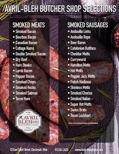 SMOKED MEATS & SAUSAGES