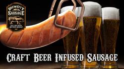 Craft Beer Infused Sausage