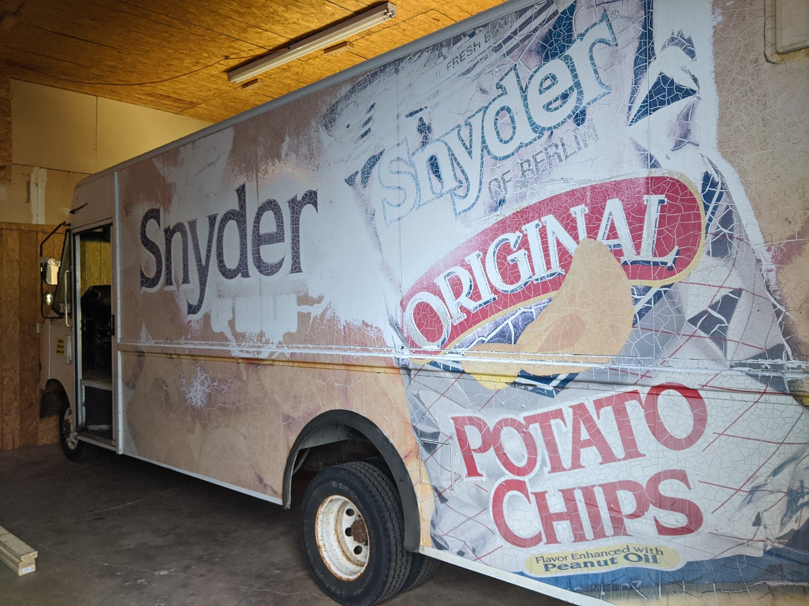 WE STARTED WITH THIS OLD DELIVERY TRUCK