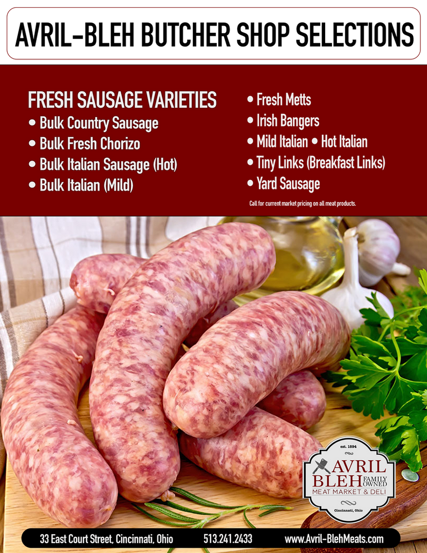 FRESH SAUSAGE VARIETIES