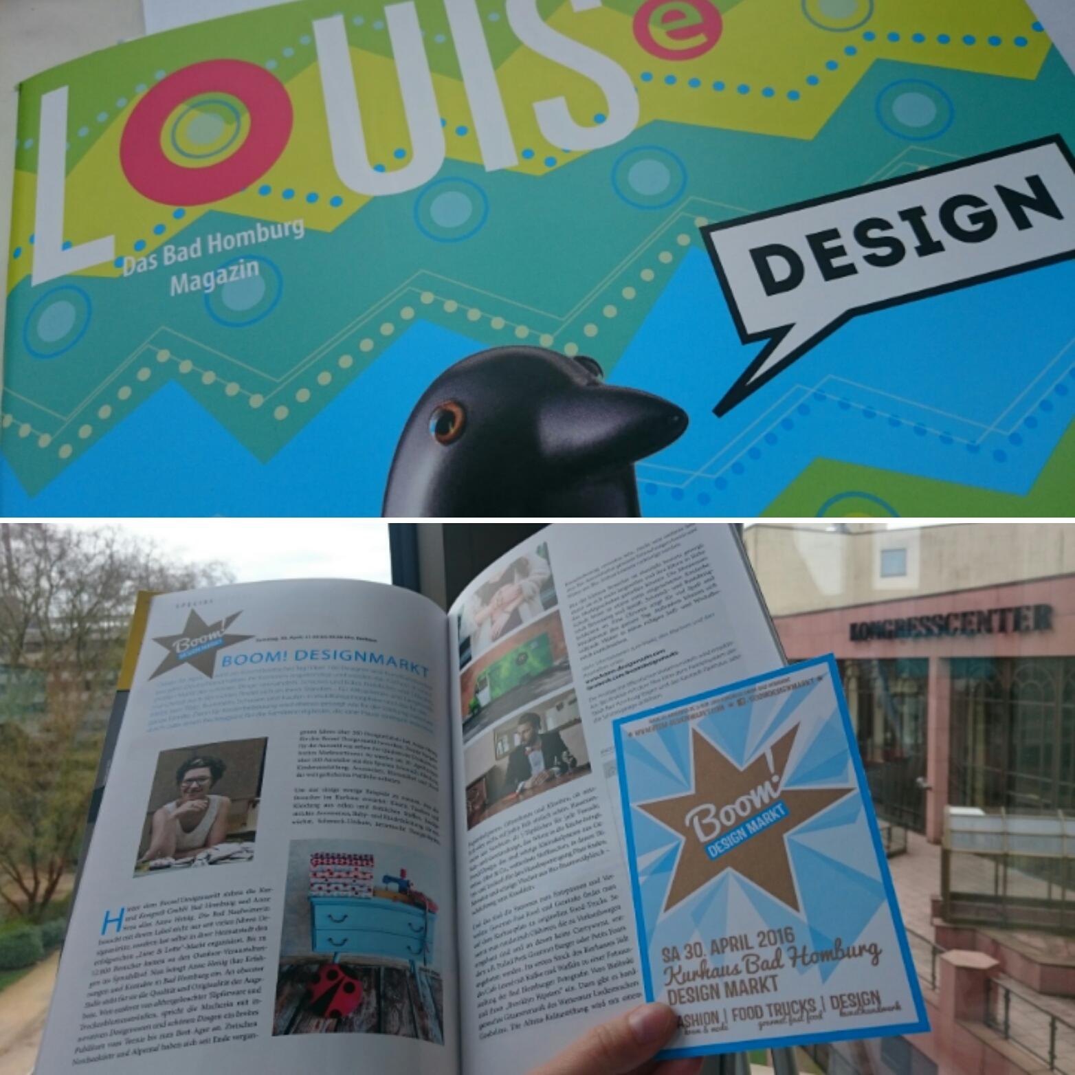 Werbung im Stadtmagazin Louise