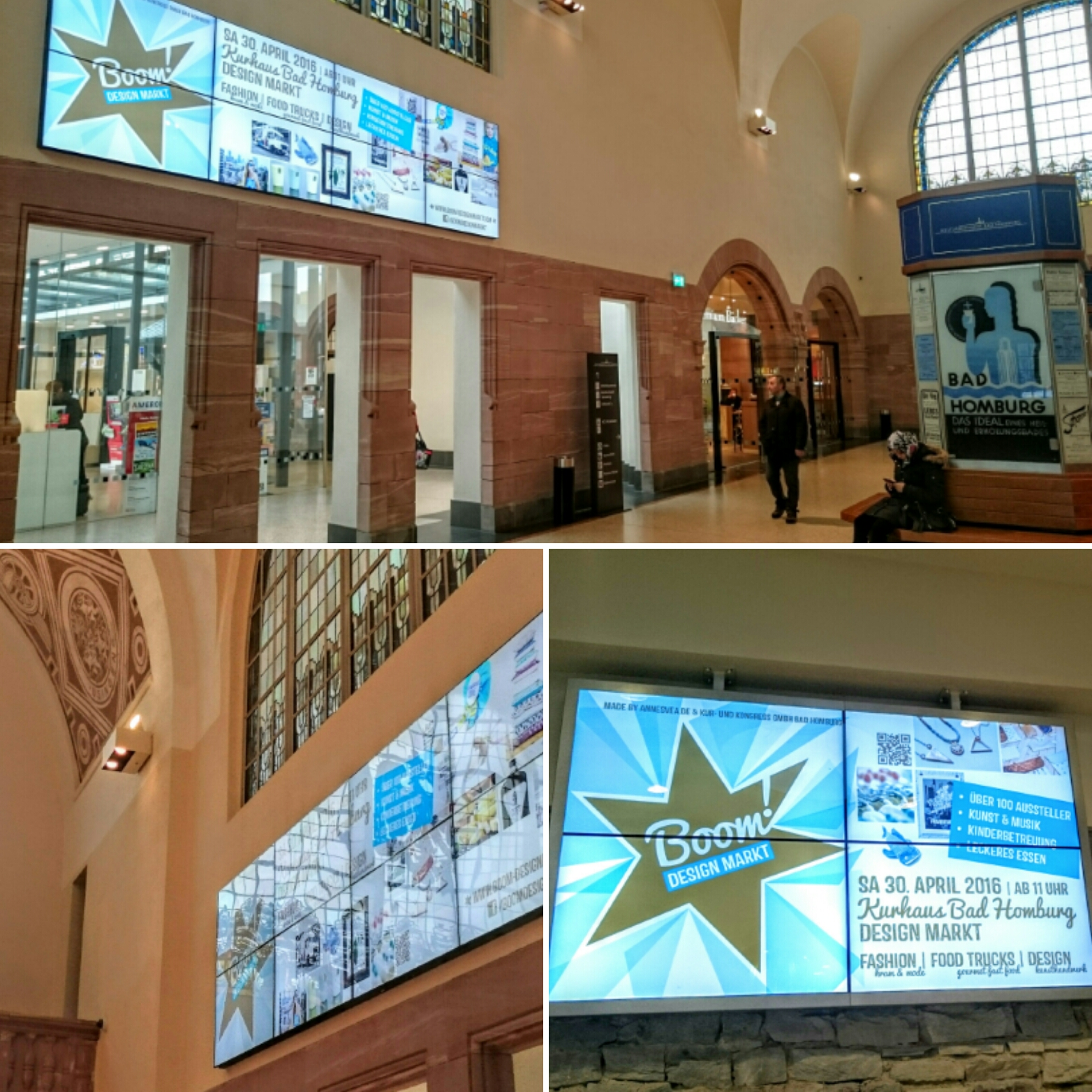 Videowerbung im Kulturbahnhof
