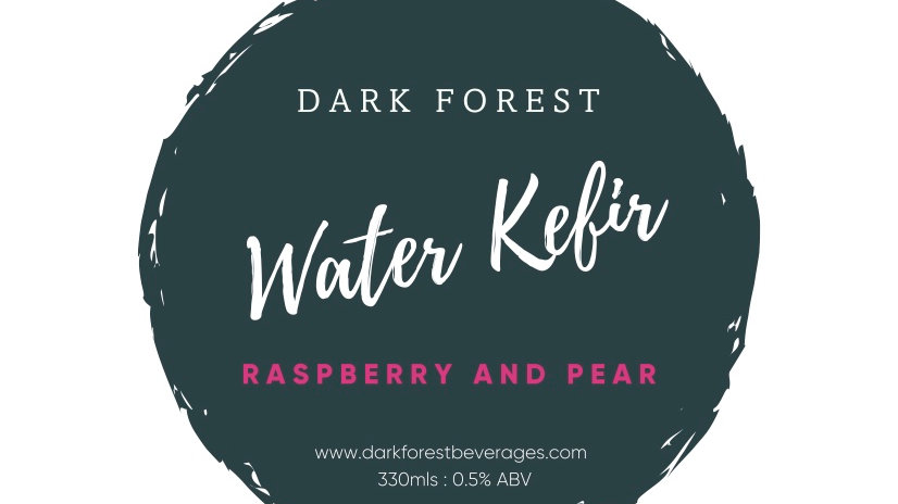 Dark Forest Sparkling Water Kefir - Raspberry and Pear