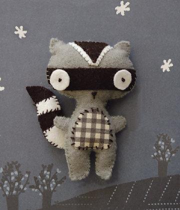 Racoon keyring kit 浣熊鑰匙扣套裝