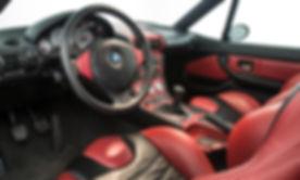 BMW Z3 M Coupé S54 intérieur noir rouge