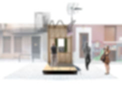 Christos Dimopoulos Architecture Studio Construction Firm City Beacon Athens Info Point Inner Elevation