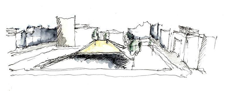 Παντελής Δημόπουλος | Αρχιτεκτονική μελέτη επανασχεδιασμού Πλατείας Κλαυθμώνος, σκίτσο