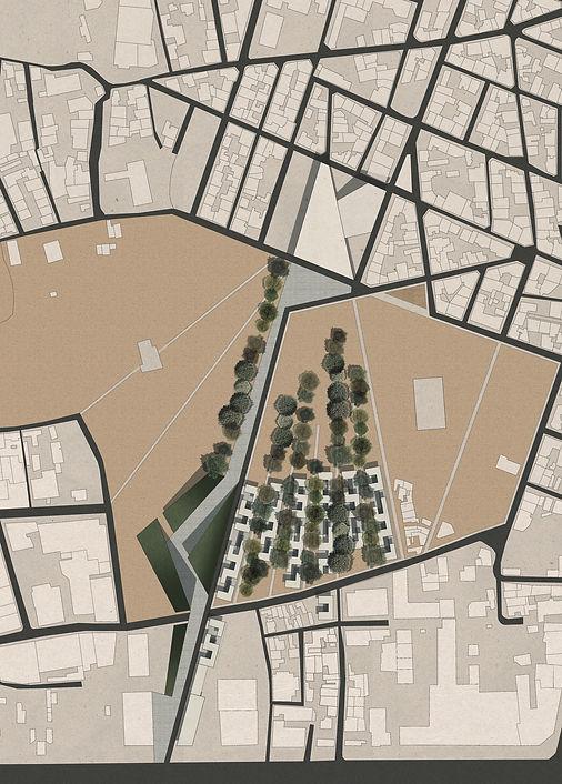 Παντελής Δημόπουλος | Αρχιτεκτονική μελέτη συλλογικής κατοικίας στην Ακαδημία Πλάτωνος, τοπογραφικό
