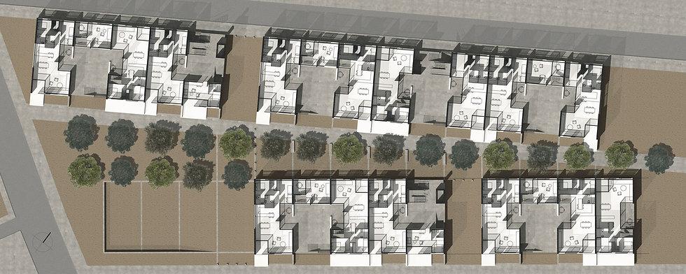 Παντελής Δημόπουλος | Αρχιτεκτονική μελέτη συλλογικής κατοικίας στην Ακαδημία Πλάτωνος, κάτοψη