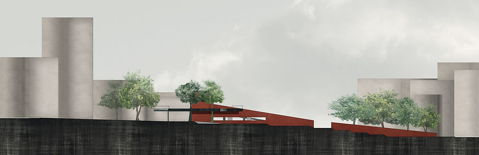 Παντελής Δημόπουλος | Αρχιτεκτονική μελέτη επανασχεδιασμού Πλατείας Κλαυθμώνος, τομή
