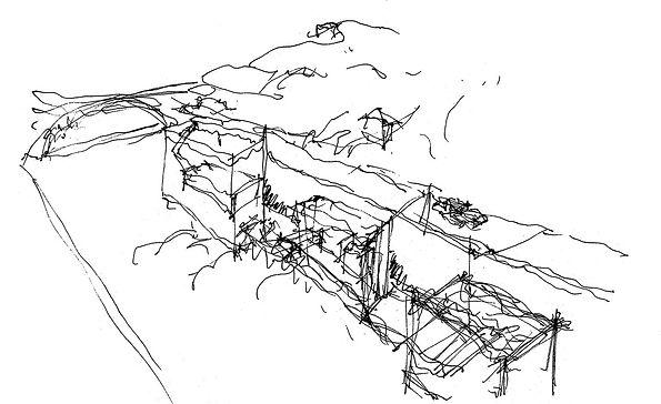 Παντελής Δημόπουλος | Αρχιτεκτονικός διαγωνισμός Αστικές πισίνες στο Πόρτο, σκίτσο