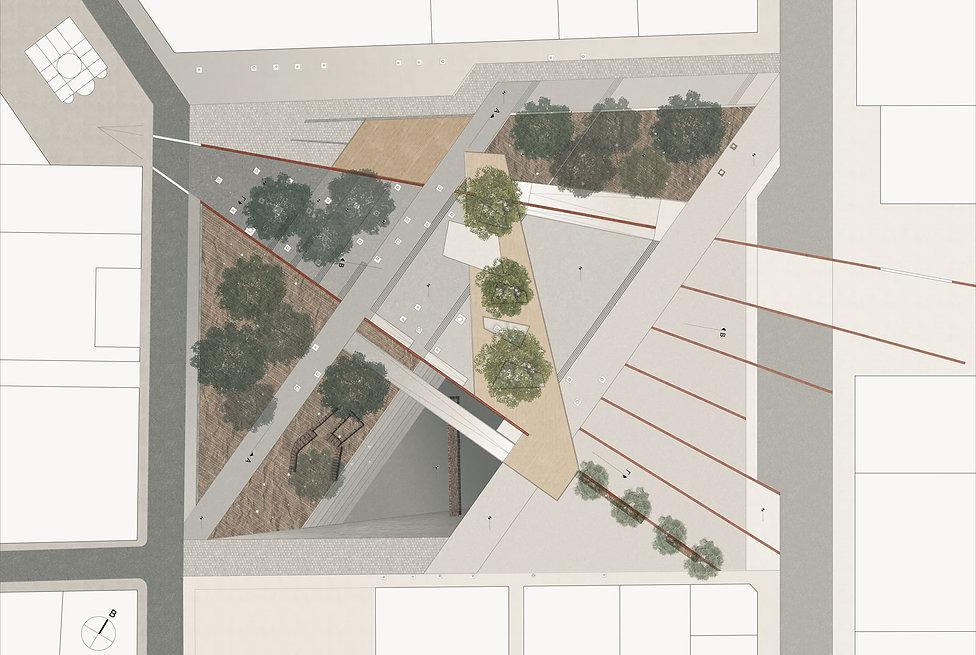 Παντελής Δημόπουλος | Αρχιτεκτονική μελέτη επανασχεδιασμού Πλατείας Κλαυθμώνος, κάτοψη