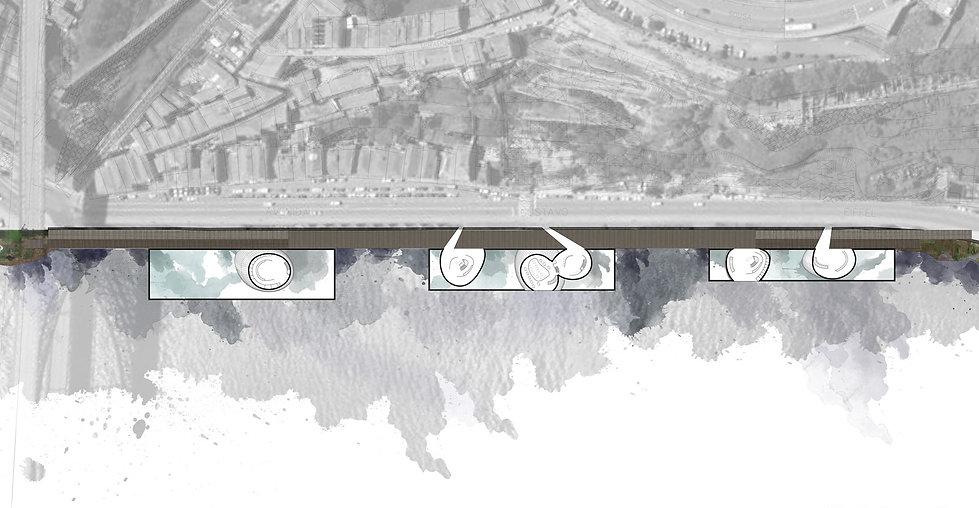 Παντελής Δημόπουλος | Αρχιτεκτονικός διαγωνισμός Αστικές πισίνες στο Πόρτο, κάτοψη