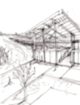 Christos Dimopoulos Architecture Studio Construction Firm Skier's reception building in Vasilitsa, Grevena Diploma Project Sketch