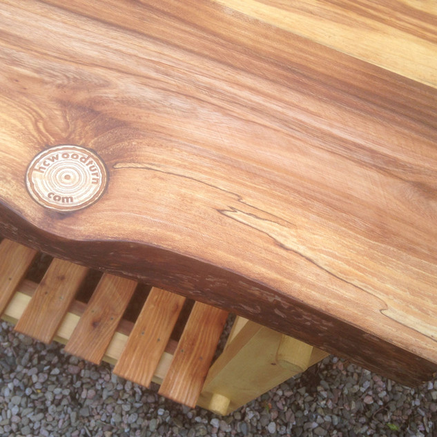 table with hcwoodturn logo