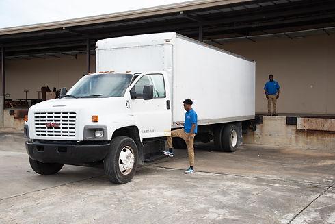 Runner's Courier Service Truck