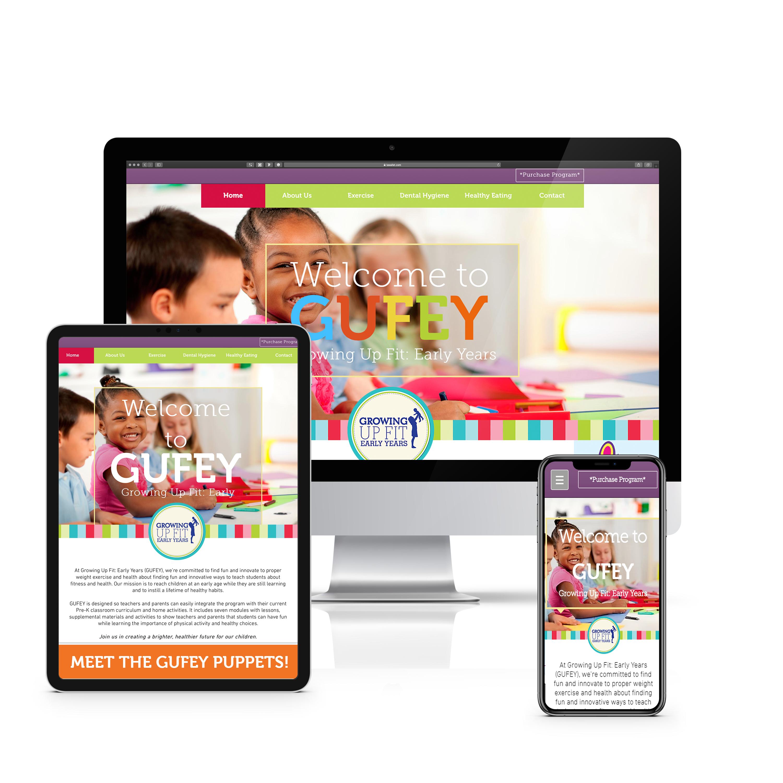 GUFEY website mockup