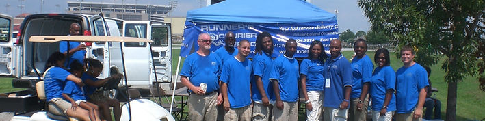 Runner's Courier Service working an event